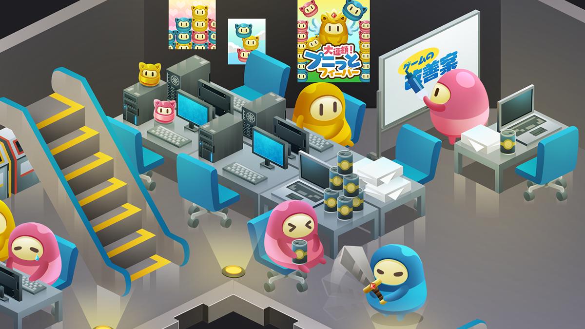 【ゲーム会社】ゲーム会社2Fの「開発エリア」が賑やかに!